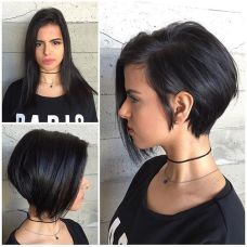 Short asymmetrical bobs hairstyle haircut 86