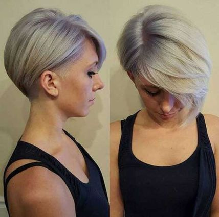 Short asymmetrical bobs hairstyle haircut 9