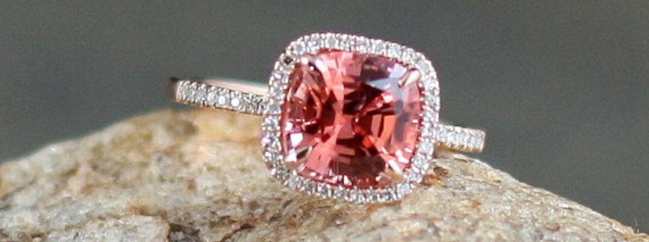 Stunning padparadscha sapphire ring featured