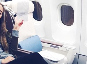 Summer airplane travel outfit featured image