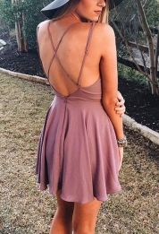 Summer casual backless dresses outfit style 103
