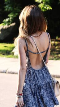Summer casual backless dresses outfit style 108