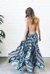 Summer casual backless dresses outfit style 11