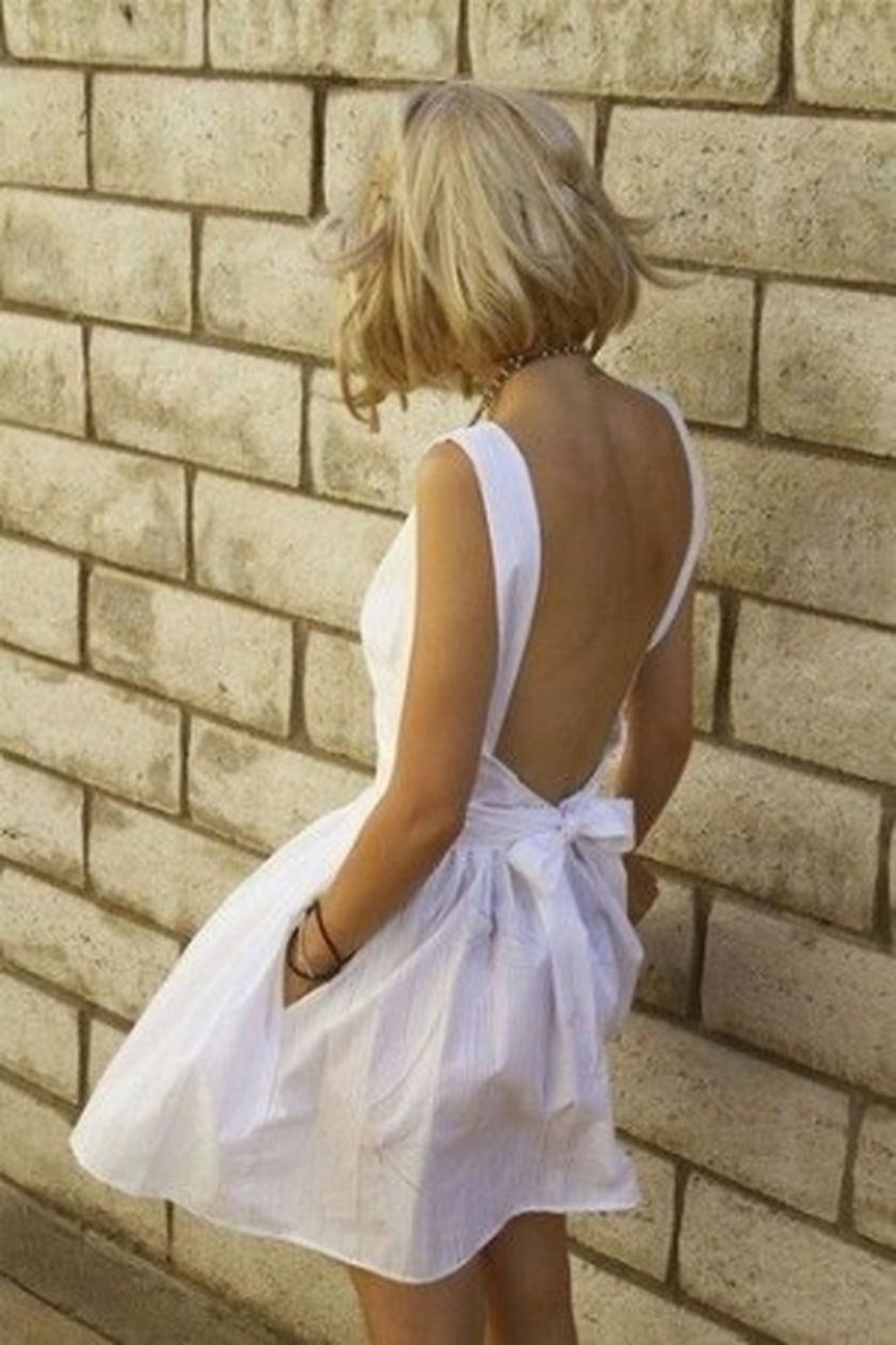Summer casual backless dresses outfit style 111