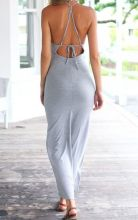 Summer casual backless dresses outfit style 17