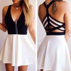 Summer casual backless dresses outfit style 32