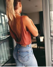 Summer casual backless dresses outfit style 34