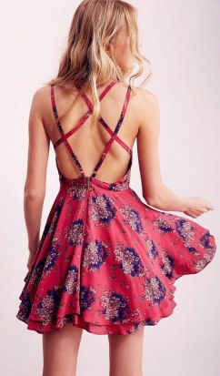 Summer casual backless dresses outfit style 53