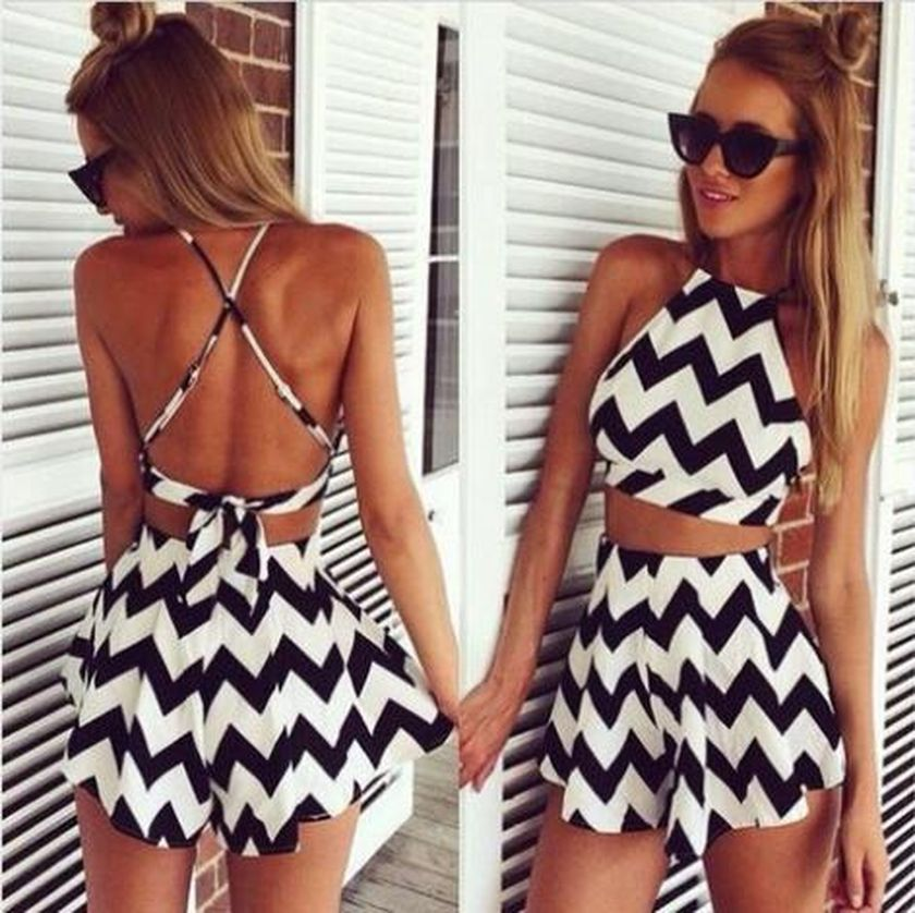 Summer casual backless dresses outfit style 61
