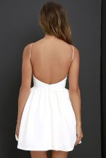 Summer casual backless dresses outfit style 62