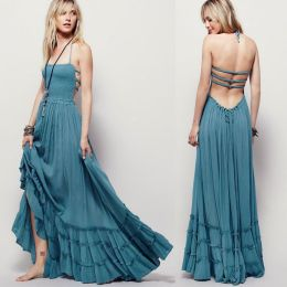 Summer casual backless dresses outfit style 65