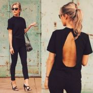 Summer casual backless dresses outfit style 68