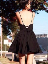 Summer casual backless dresses outfit style 74