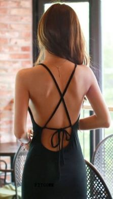 Summer casual backless dresses outfit style 78