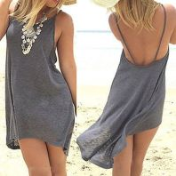 Summer casual backless dresses outfit style 82