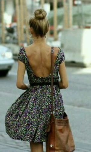 Summer casual backless dresses outfit style 86