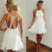 Summer casual backless dresses outfit style 99