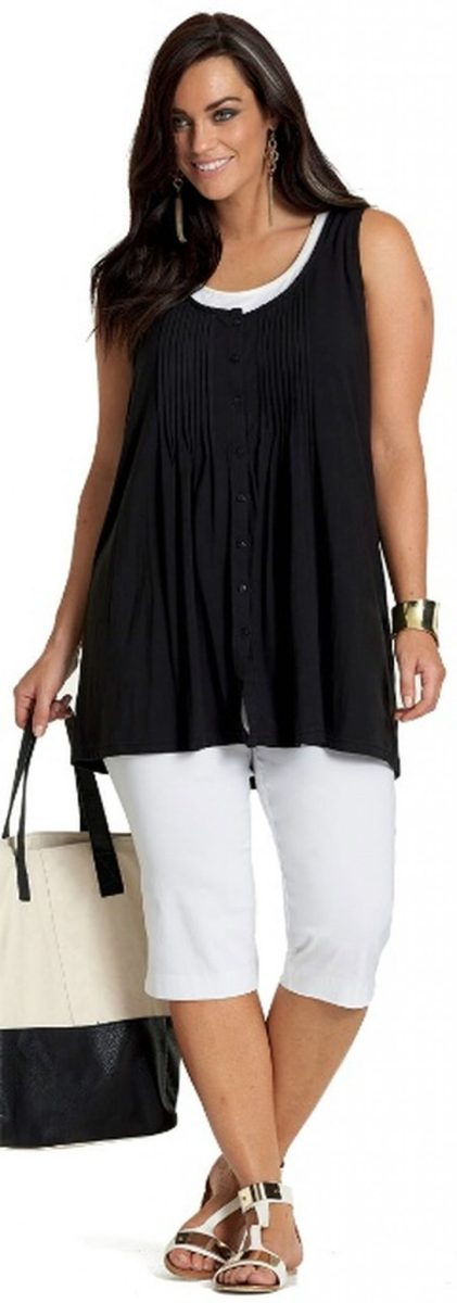 Summer casual work outfits ideas for plus size 54 ...