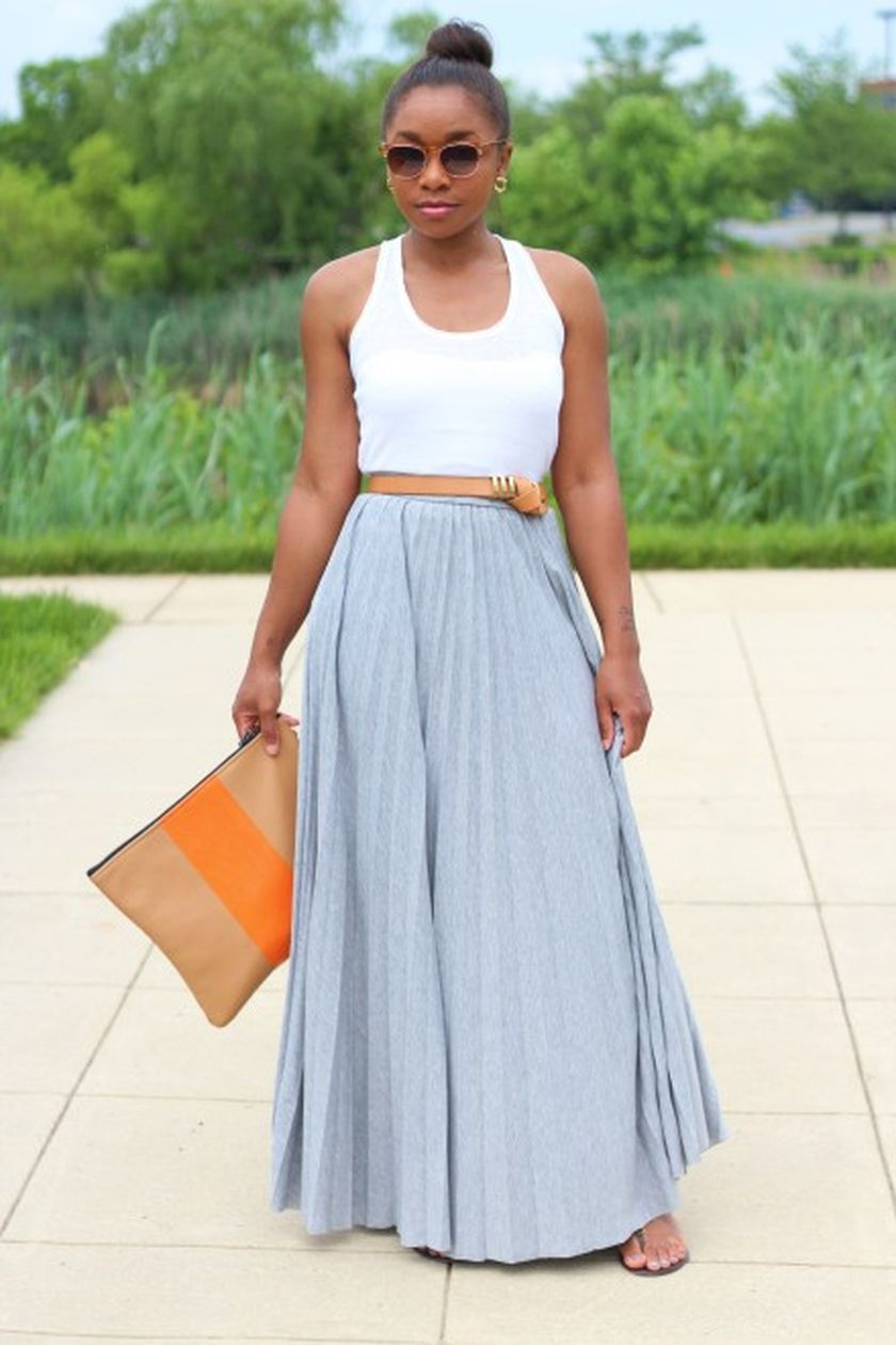 Summers casual maxi skirts ideas 12