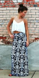 Summers casual maxi skirts ideas 17