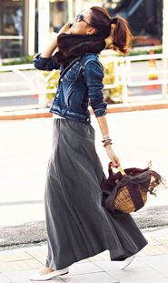 Summers casual maxi skirts ideas 23