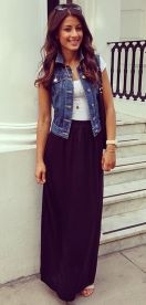Summers casual maxi skirts ideas 24