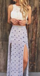 Summers casual maxi skirts ideas 29