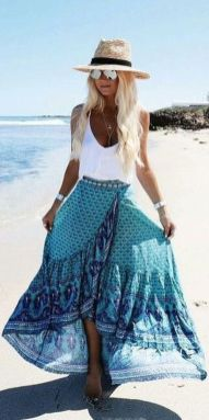 Summers casual maxi skirts ideas 34
