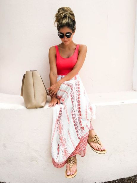Summers casual maxi skirts ideas 53