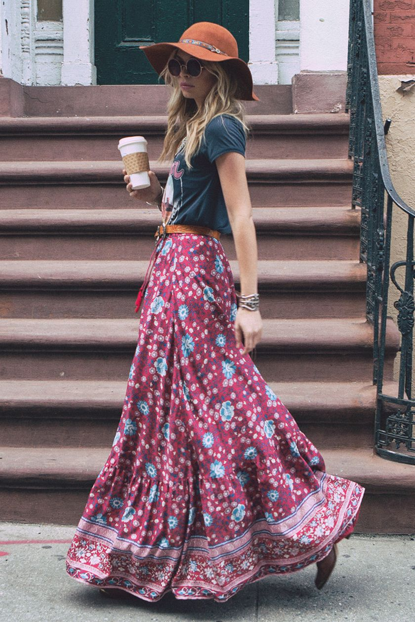 Summers casual maxi skirts ideas 62