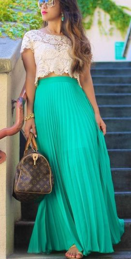 Summers casual maxi skirts ideas 7