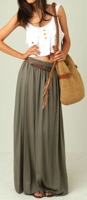 Summers casual maxi skirts ideas 84