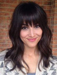 Awesome full fringe hairstyle ideas for medium hair 22 ...