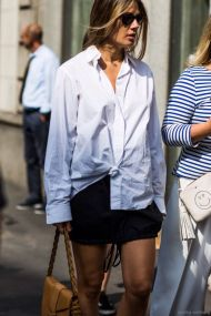Awesome oversized white shirt outfit style ideas 17
