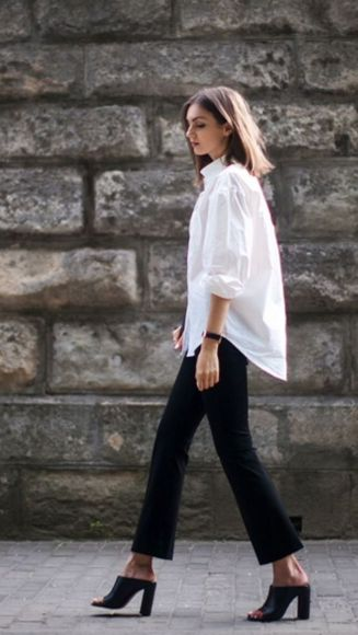 Awesome oversized white shirt outfit style ideas 22