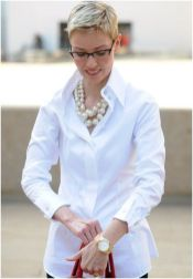 Awesome oversized white shirt outfit style ideas 4