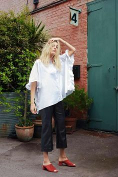 Awesome oversized white shirt outfit style ideas 41