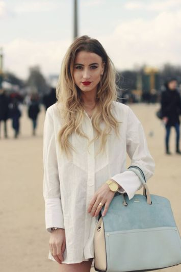 Awesome oversized white shirt outfit style ideas 5