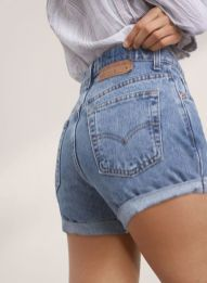 Best high waisted short denim outfits style 29