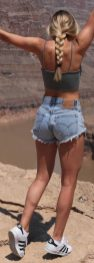 Best high waisted short denim outfits style 33