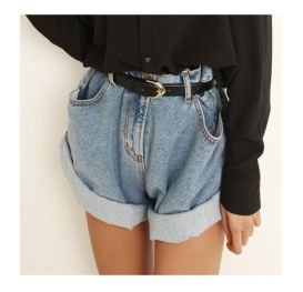 Best high waisted short denim outfits style 36