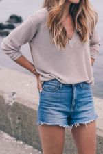 Best high waisted short denim outfits style 74