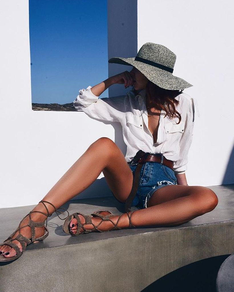 Best high waisted short denim outfits style 75
