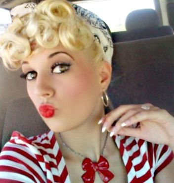 Breathtaking vintage rockabilly hairstyle ideas 44