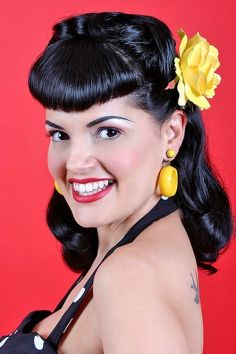 Breathtaking vintage rockabilly hairstyle ideas 51