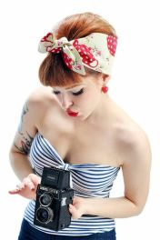 Breathtaking vintage rockabilly hairstyle ideas 62