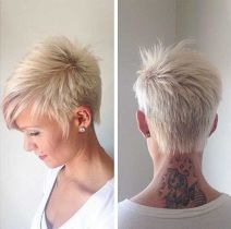 Cool back view undercut pixie haircut hairstyle ideas 24