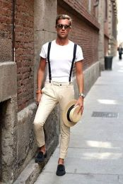 Cool casual men plain t shirt outfits ideas 11