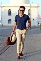 Cool casual men plain t shirt outfits ideas 24