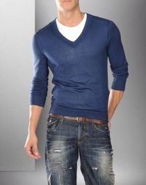 Cool men sweater outfits ideas 16